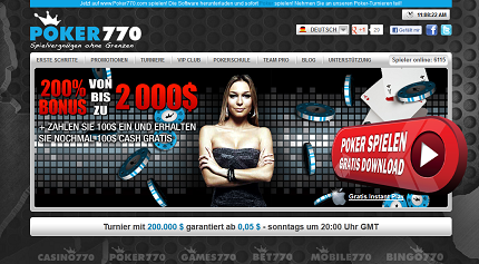 Poker770 $100 Sofortbonus!